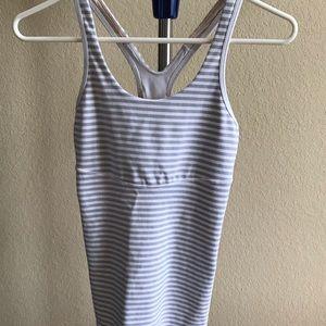 Lululemon Tank/Workout Top Size 6! White/Grey!